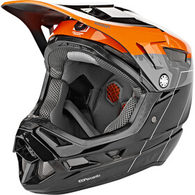 100% Aircraft DH Casque Mips inclus, darkblast
